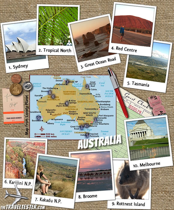 Travel Collage Australia: 10 Top Sights Not To Skip on Your Next Trip || The Travel Tester