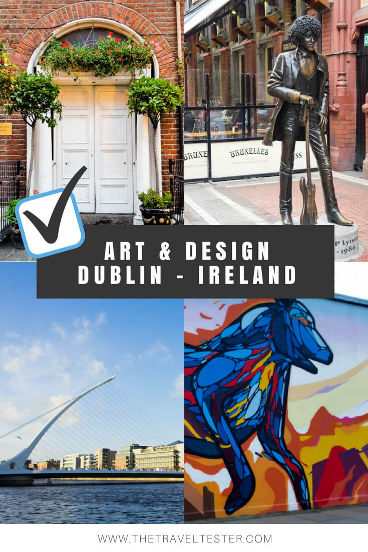 Art in Dublin, Ireland: Discover Unique Street Art, Statues and... Doors! || City Guide by The Travel Tester || #CityGuide #Ireland #Dublin #VisitIreland #VisitDublin #24HGuide #StreetArt