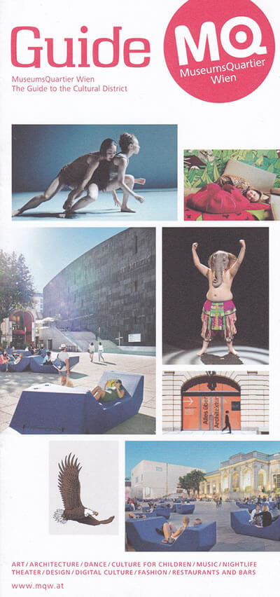MuseumsQuartier Vienna, Austria | The Travel Tester Brochure Rack
