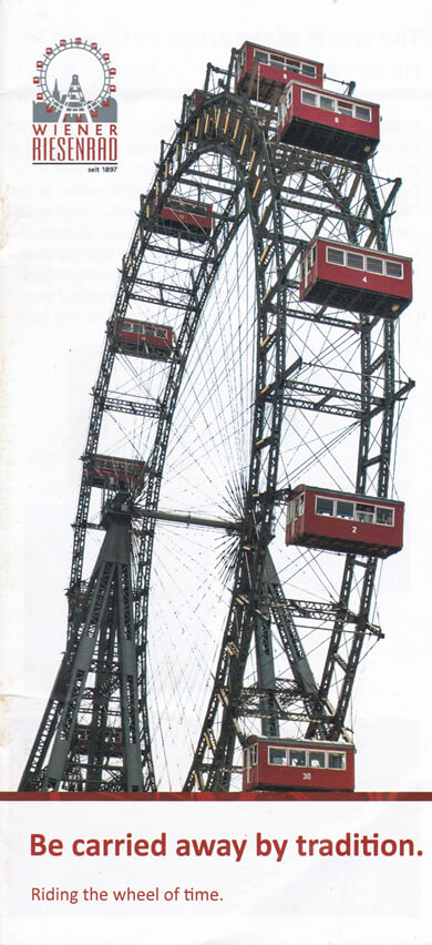 Wiener Riesenrad Vienna, Austria | The Travel Tester Brochure Rack