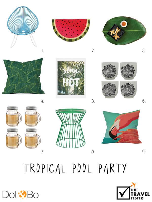 Tropische Pool Party Interieurontwerp - Reizen Stijlgids || The Travel Tester