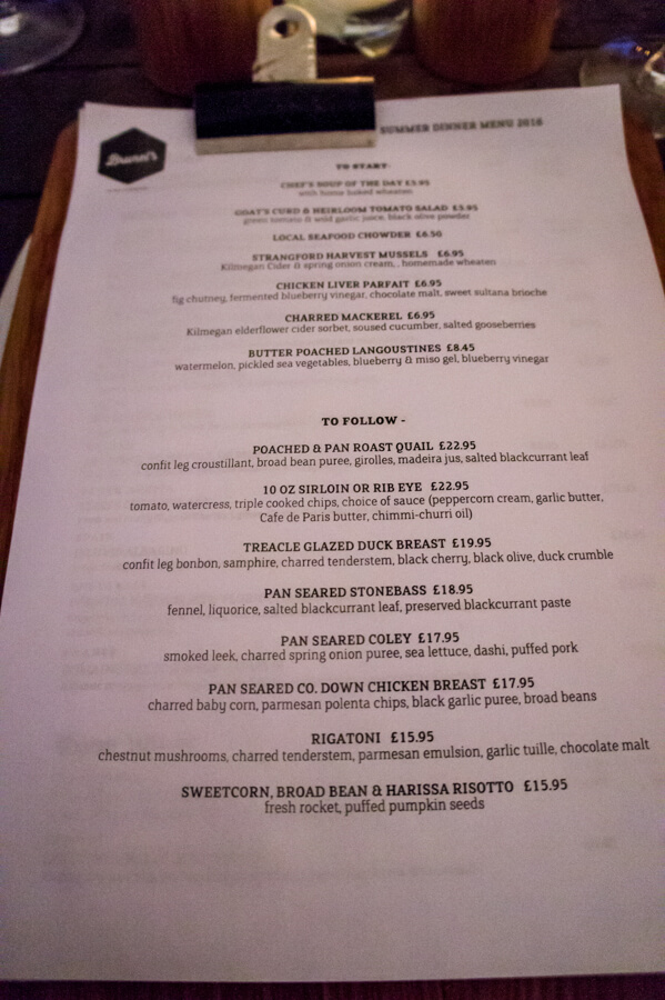 A local meal at Brunel's in Newcastle, Northern Ireland || The Travel Tester