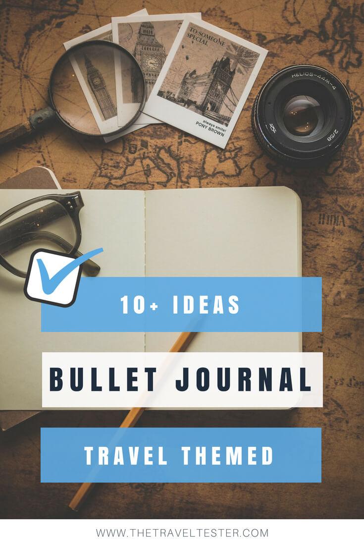 10 Creative Travel Bullet Journal Ideas in the Spotlight That You'll Love!    The Travel Tester    #Journal #BulletJournal #BUJO #Writing #Diary #Notebook #TravelDiary #Journaling