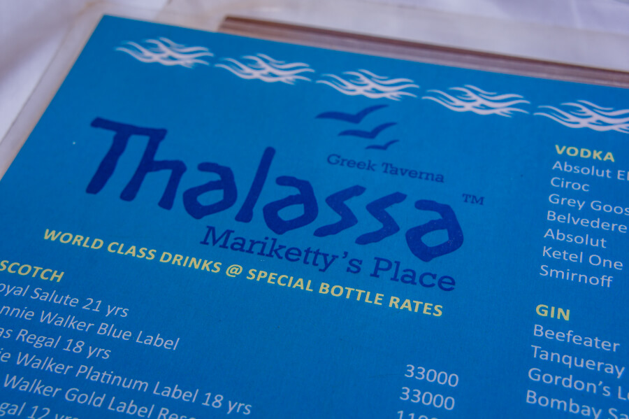 Amazing Greek Food at Thalassa in Goa, India || The Travel Tester