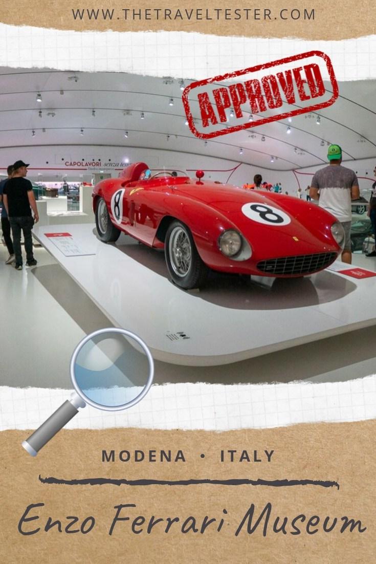 Outstanding Enzo Ferrari Museum Modena, Italy - Step in the World of Car Perfection!    The Travel Tester    #thetraveltester #motorvalley #italy #modena #emiliaromagna #enzoferrari #ferrari #travel #cars #carmuseum