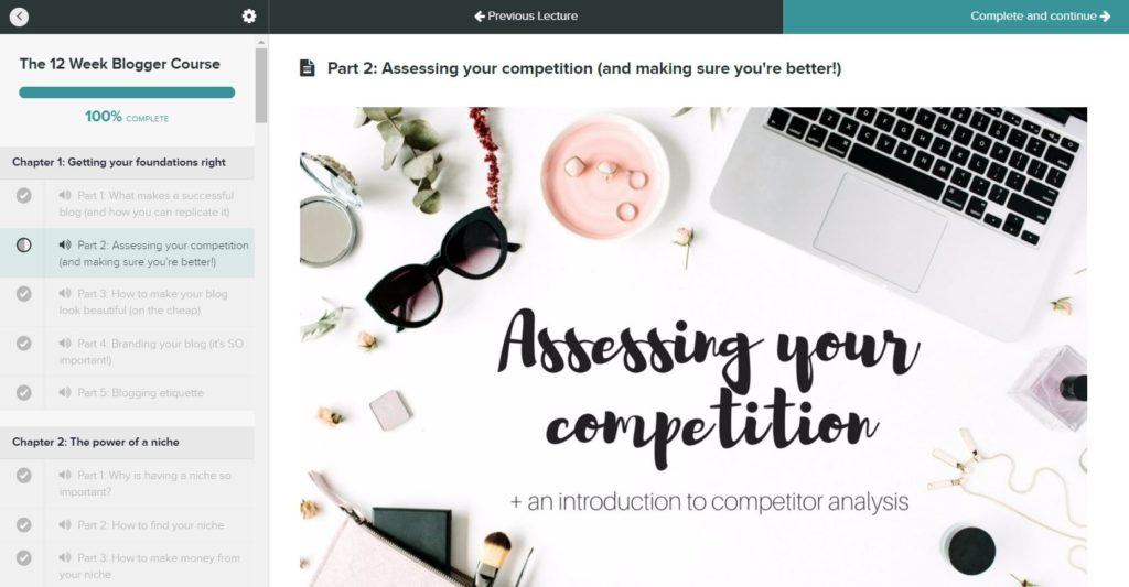 The Blogger Course Content