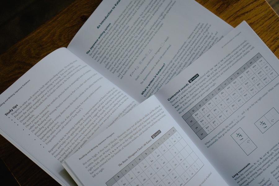 Japanese Katakana and Hiragana Study Books - How to learn japanese for beginners