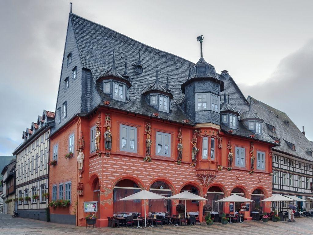 Marktplein in Goslar Duitsland
