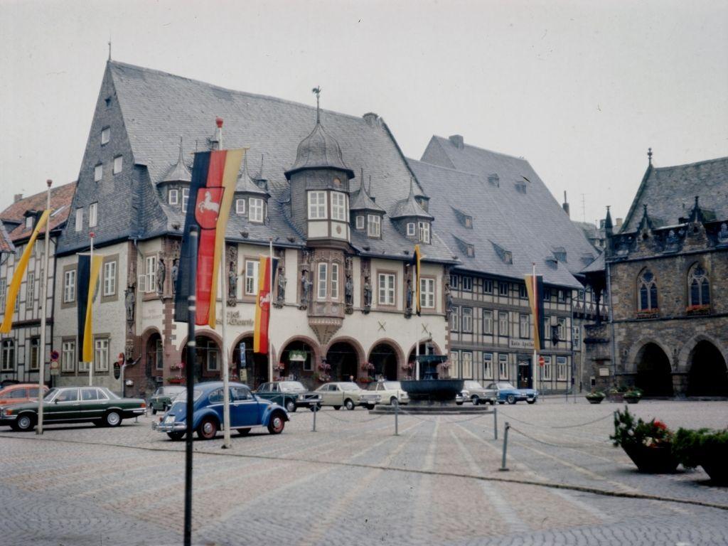 Markt in Goslar Duitsland