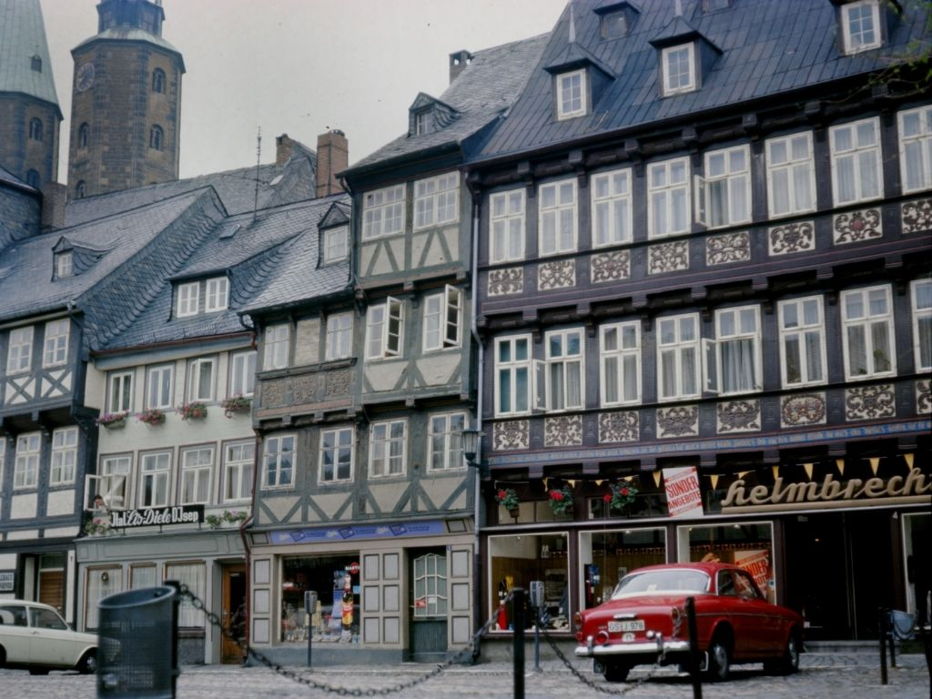 Vakwerkhuizen in Goslar Duitsland
