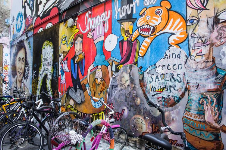 Street Art - colourful mural