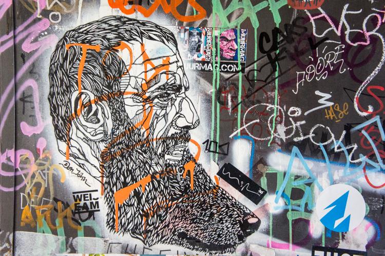 Streetart - Man & Dog