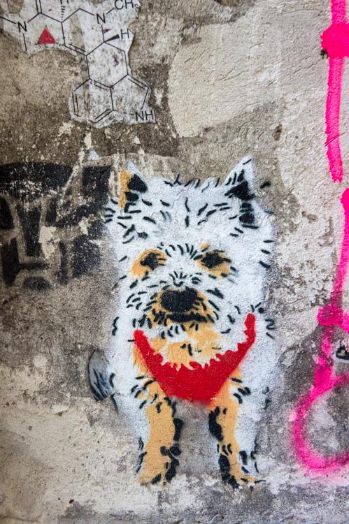 Streetart  - Little White Dog